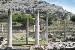 Ancient Philippi. Remains from historic Philippi that would have been visited by the Apostle Paul, Silas, Lydia and early Christians from Acts 16. These remains royalty free stock photos