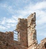 Remains of historic stone walls Royalty Free Stock Photo