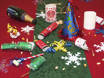 Remains of the holiday party Royalty Free Stock Photos