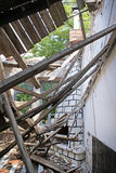 Remains of a house after an earthquake Royalty Free Stock Photo