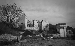 Remains of the house. Remains of the old house Royalty Free Stock Photo