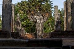 Remains of the Image House at Mudu Maha Vihara adjacent to Pottuvil beach on the east coast of Sri Lanka. Stock Photos