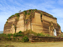 Remains of incomplete stupa Mingun Pahtodawgyi, Mandalay, Myanma Stock Image