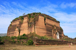 Remains of incomplete stupa Mingun Pahtodawgyi, Mandalay, Myanma Stock Images