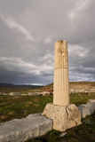 Remains of Ionic Column Stock Image