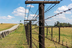 Remains of iron curtain near border of Czech republic Stock Photo