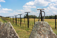 Remains of iron curtain near border of Czech republic Royalty Free Stock Photography