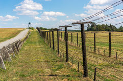 Remains of iron curtain near border of Czech republic Royalty Free Stock Photo
