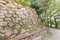 Remains of Japanese castle Busan (1592) in Busan, Korea Stock Images