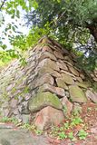 Remains of Japanese castle Busan (1592) in Busan, Korea Royalty Free Stock Photography
