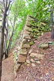 Remains of Japanese castle Jaseongdae (Busanjin, 1592) in Busan Royalty Free Stock Photography