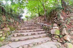 Remains of Japanese castle Jaseongdae (Busanjin, 1592) in Busan Stock Photos