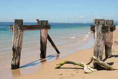 Remains of Jetty Stock Photo