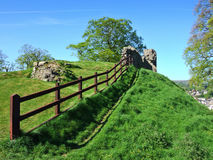 Remains of Kendal castle with Stock Images