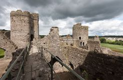 The remains of Kidwelly Castle Royalty Free Stock Photo
