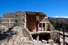 Remains Knossos Palace, Crete, Greece Stock Photography