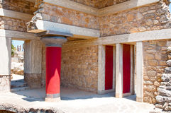 Remains of the Knossos palace on the island of Crete, Greece. Stock Images