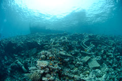 The Remains of the Lara shipwreck Stock Photo