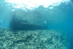 The Remains of the Lara shipwreck Royalty Free Stock Photo