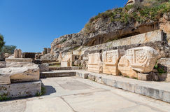Remains of Lesser Propylaia, ancient Eleusis, Attica, Greece Royalty Free Stock Images