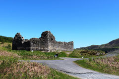 Remains of Loch Doon castle, Carrick, Scotland Royalty Free Stock Images