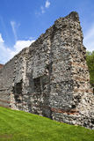 Remains of London Wall. London Wall was the defensive structure built around London by the Romans (in the late 2nd/early 3rd century Royalty Free Stock Images