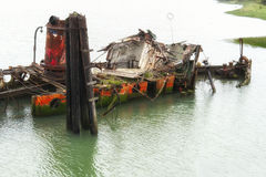 Remains of the Mary D. Hume in Gold Beach Oregon Stock Photos
