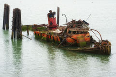 Remains of the Mary D. Hume in Gold Beach Oregon Stock Photo