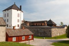 Remains of the medieval castle in Nykoping Stock Images