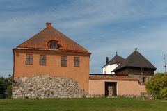 Remains of the medieval castle in Nykoping Royalty Free Stock Photos