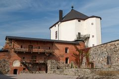 Remains of the medieval castle in Nykoping Royalty Free Stock Photo