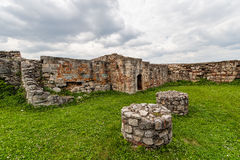 Remains of medieval fortress Stock Photo