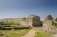 Remains of the medieval fortress Royalty Free Stock Image