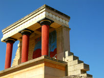 The remains of the Minoan civilization in Knossos, Crete Stock Image