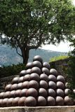 Cannon balls in Monaco City royalty free stock photo