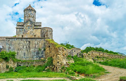 The remains of the Monastery wall Royalty Free Stock Images