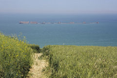 Remains of the Mulberry harbour Royalty Free Stock Photography