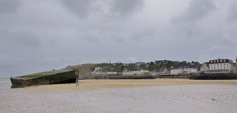 Remains of Mulberry Harbour Royalty Free Stock Photography