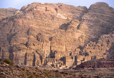 Remains of nabatean city Petra in Jordan. Ancient city, capital of the Edomites (Edom), and later the capital of the Nabataean kingdom - city of Petra in Jordan stock photography