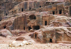 Remains of nabatean city Petra in Jordan Royalty Free Stock Photography