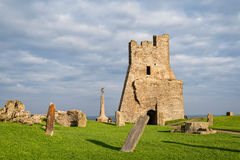 Remains of the north tower gateway at Aberystwyth Castle. Stock Photos