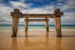 Free Remains Of An Old Pier Stock Photo - 55024200