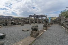 Free Remains Of The Synagogue, In Korazim National Park Stock Photo - 116378870