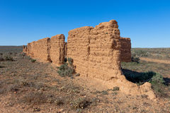 Remains of old buiilding in outback Australia. Stock Images