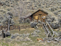 Remains of an old cabin in Unionville, Nevada Stock Photo
