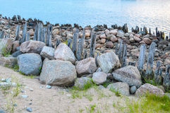 Remains of old coastline Stock Photography