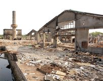 Remains of an Old Factory Stock Photography