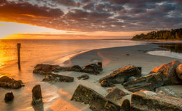 Remains of old fisheries, Baltic Sea Royalty Free Stock Photography