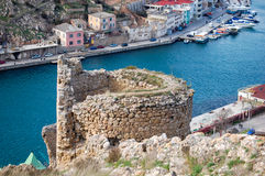 The remains of the old fortress in Balaklava Stock Image