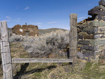 Remains of an old homestead in Unionville, Nevada Stock Image